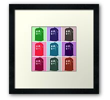 Warhol Inspired Public Police Call Box Framed Print