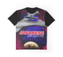 Japanese Drugstore Flying Saucer Graphic T-Shirt