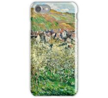 Claude Monet - Plum Trees in Blossom (1879)  iPhone Case/Skin