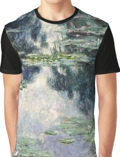Claude Monet - Pond with Water Lilies (1907)  Graphic T-Shirt