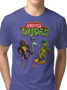 Sewer Pizza Dudes Tri-blend T-Shirt
