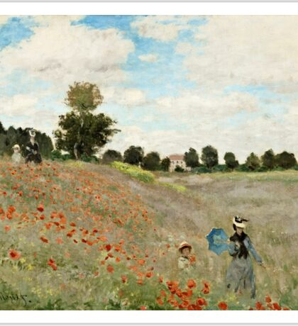 Claude Monet - Poppy Field (1873)  Sticker