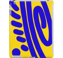 Blue and Yellow Swirl abstract iPad Case/Skin