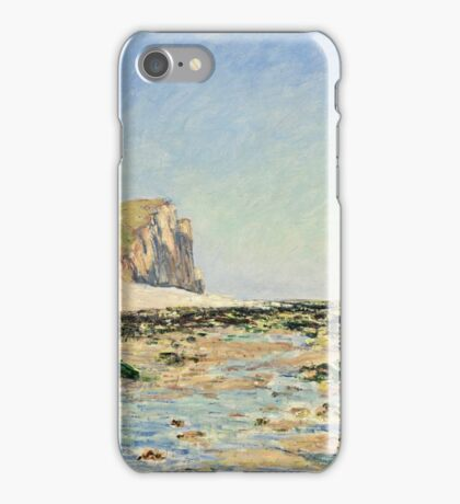 Claude Monet - Seashore and Cliffs of Pourville in the Morning (1882)  iPhone Case/Skin
