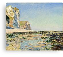 Claude Monet - Seashore and Cliffs of Pourville in the Morning (1882)  Canvas Print