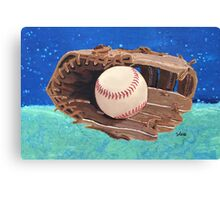 Baseball & Glove painting Canvas Print