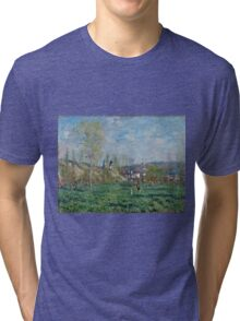 Claude Monet - Spring in Vethuil (1880)  Tri-blend T-Shirt