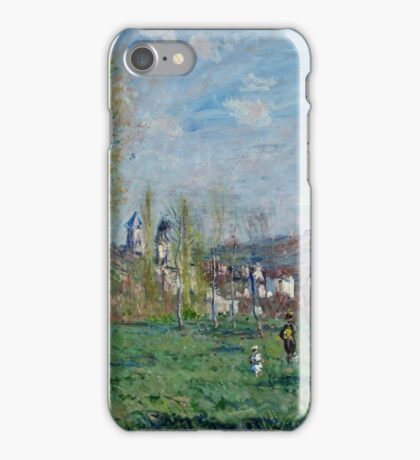 Claude Monet - Spring in Vethuil (1880)  iPhone Case/Skin