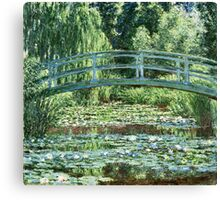 Claude Monet - The Japanese Footbridge and the Water Lily Pool, Giverny (1899)  Canvas Print
