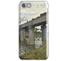 Claude Monet - The Railroad bridge in Argenteuil (1873 - 1874)  iPhone Case/Skin