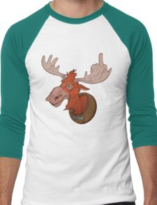 Moose says hello Men's Baseball ¾ T-Shirt