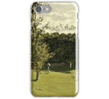 Claude Monet - Train in the Countryside (circa 1870)  iPhone Case/Skin