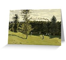 Claude Monet - Train in the Countryside (circa 1870)  Greeting Card
