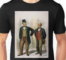 Performing Arts Posters Two well dressed men with canes standing on sidewalk outside saloon 1558 Unisex T-Shirt