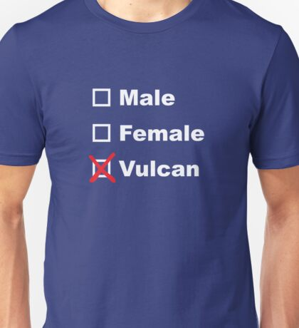 Male, Female, Vulcan Unisex T-Shirt
