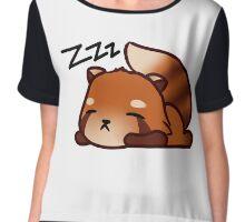 Sleeping Red Panda Chiffon Top