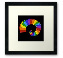 Spiral of Rainbow Squares Framed Print