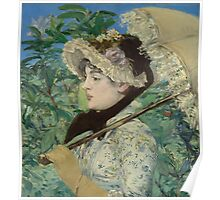 Edouard Manet - Jeanne (Spring) Poster