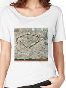 Egon Schiele - Autumn Tree in Stirred Air (Winter Tree) (1912)  Women's Relaxed Fit T-Shirt