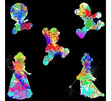Mario 3D World Paint Splatter Photographic Print