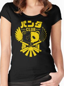 Panda Club Logo Design (Yellow) Women's Fitted Scoop T-Shirt