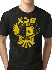 Panda Club Logo Design (Yellow) Tri-blend T-Shirt