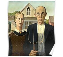 Grant Wood - American Gothic (1930)  Poster