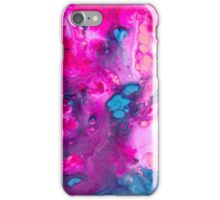 pink and blue marble iPhone Case/Skin