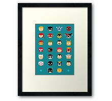 Super Alphabet! Framed Print