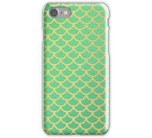 mint and gold scallop iPhone Case/Skin