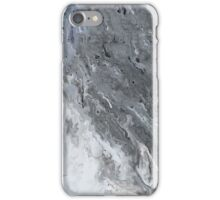 dark gray marble iPhone Case/Skin