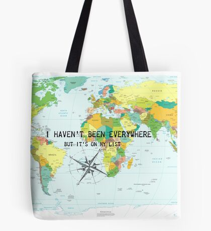 I haven't been everywhere but it's on my list - Susan Sontag Tote Bag