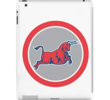 Bull Attacking Charging Circle Retro iPad Case/Skin