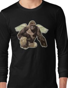 Harambe from above Long Sleeve T-Shirt
