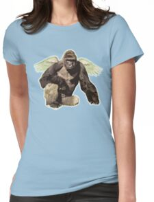 Harambe from above Womens Fitted T-Shirt