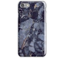 dark blue marble chips iPhone Case/Skin