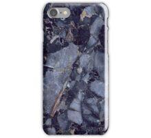 dark blue marble chips iPhone Case/Skin