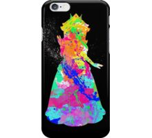 Princess Peach Paint Splatter White iPhone Case/Skin