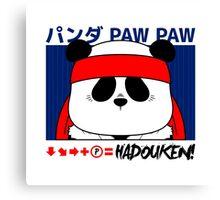 Panda (Hadouken) Canvas Print