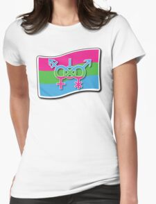 Polysexual Sign Womens Fitted T-Shirt