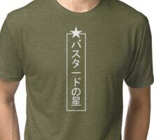 White Bastard Star Tri-blend T-Shirt