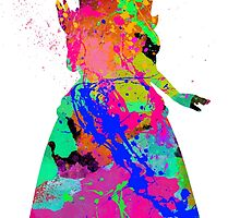 Princess Peach Paint Splatter Black by choopy
