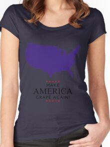 Make America Grape Again Women's Fitted Scoop T-Shirt