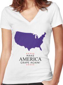 Make America Grape Again Women's Fitted V-Neck T-Shirt