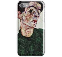 Egon Schiele - Self Portrait with Chinese Lantern Plant (1912) 1  iPhone Case/Skin