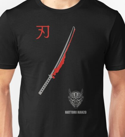 MENS HATTORI HANZO KILL BILL SAMURAI SWORDS Unisex T-Shirt