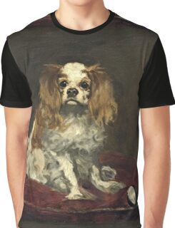 Edouard Manet - A King Charles Spaniel  Graphic T-Shirt