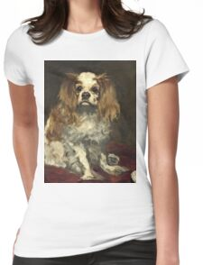 Edouard Manet - A King Charles Spaniel  Womens Fitted T-Shirt