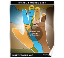 Handy Prayer Map : Middle-East Poster