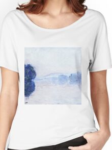 Claude Monet - The Seine Near Vernon, As Seen In The Morning 1894  Women's Relaxed Fit T-Shirt